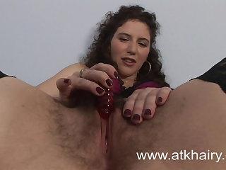 Hairy Sativa Verte Wakes Up Horny And Masturbates With Toys