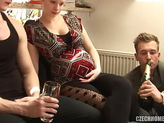 Czech Home Group Fucking with amateur sluts and preggo babes