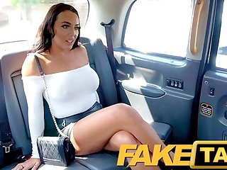 Fake Taxi sexually attractive dark hair with big knockers and she's a squirter