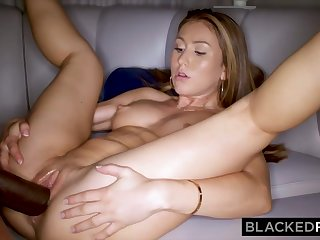 Crimson haired stunner is cuckold on her beau with a dark-hued dude, once in a while