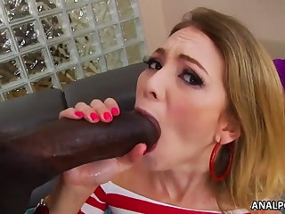 Painful monster black cock ass fuck - Angel Smalls