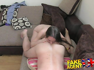 FakeAgentUK filthy euro chick gets anal creampie on casting