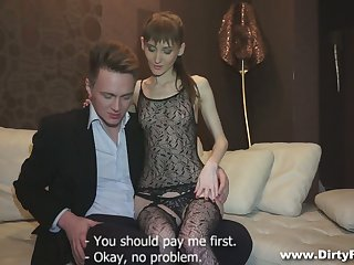 Svelte young courtesan Elena is eager to be fucked doggy hard enough