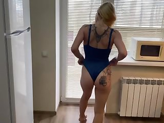 Delicious blonde tattooed girlfriend wanted my dick in her mouth