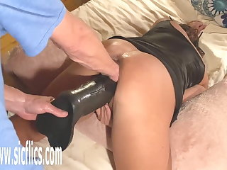 Double Fist and Colossal Dildo Fucked Wife