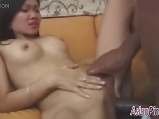 Nice amateur asian fucked with BBC Homemade Sex