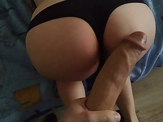 She's scared by a big monster cock