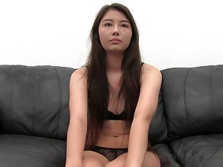 Cute asian POV casting