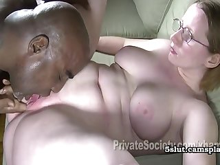 Heidi Goes Black - Nerd Plumper Interracial Sex
