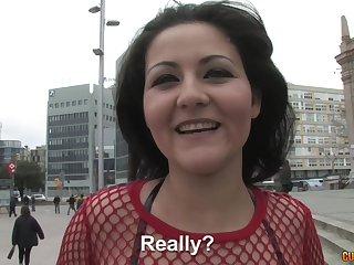 Homemade amateur video of a handsome brunette having sex with a stranger