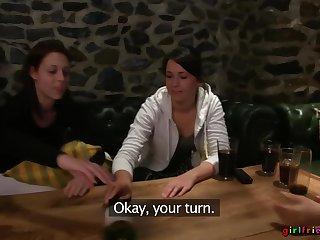 Erotic late night lesbian sex between cuties Lexi Dona and Charlotta