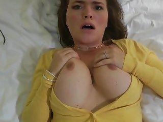 Girlfriend Cheating - busty brunette Krissy lynn in POV homemade hardcore