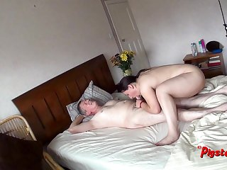 Spy Cam View Of Old Man Masturbating And Screwing Chubby Slut