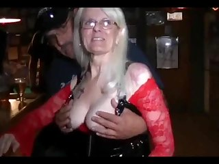 The Arizona Hot Wife in public wearing transparent clothes