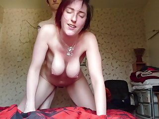Big breasts bounce around as shes pounded behind - Homemade Sex