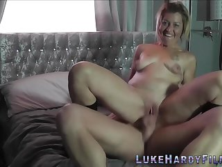Tattooed Cougar Rides Male Pole - homemade sex