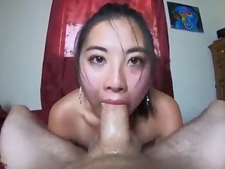 FIERCE POINT OF VIEW throatfuck spunk coming out of her NOSE!